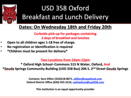 Free Meals For Students Ages 1-18