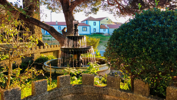 Sobreiro, Lisbon, Portugal. Water fountain in the countryside.