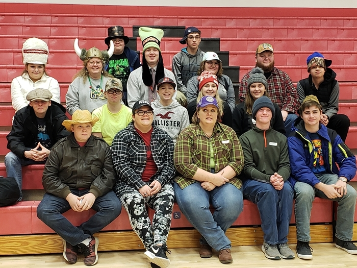 Staff and students wore hats in support of the American Red Cross.