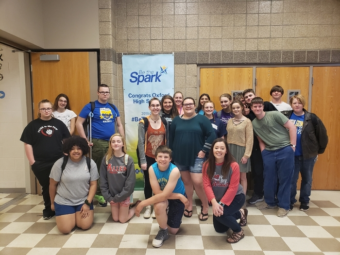 KAY Club members celebrate Be the Spark.