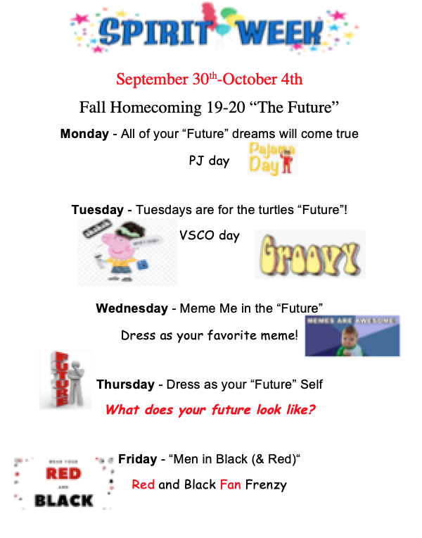 Spirit Week Fall 2019