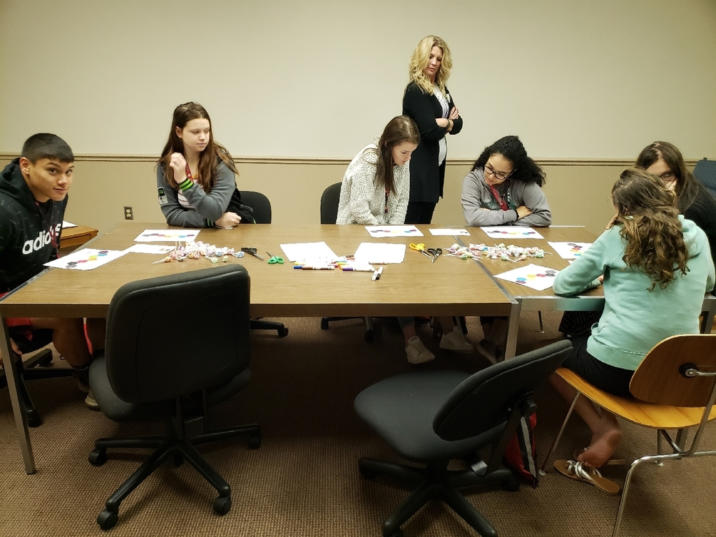 Students focused on project-based learning