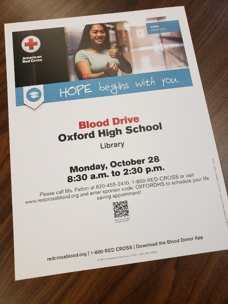 Blood drive October 28th